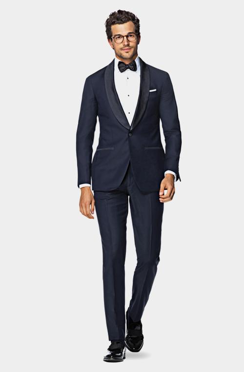 時尚藍色晚宴禮服