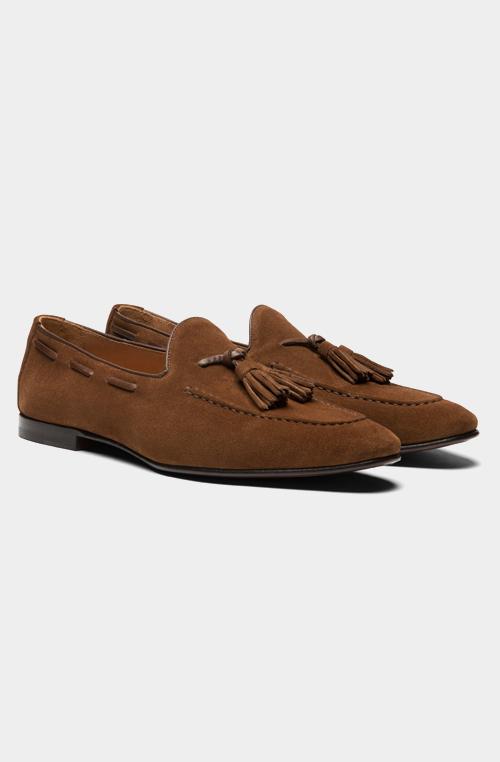 棕色流蘇樂福鞋