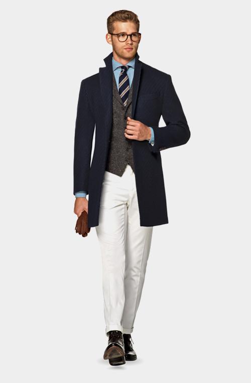 深藍色外套